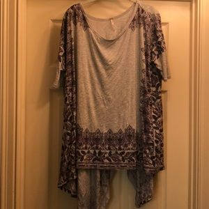 Free People asymmetrical tunic top